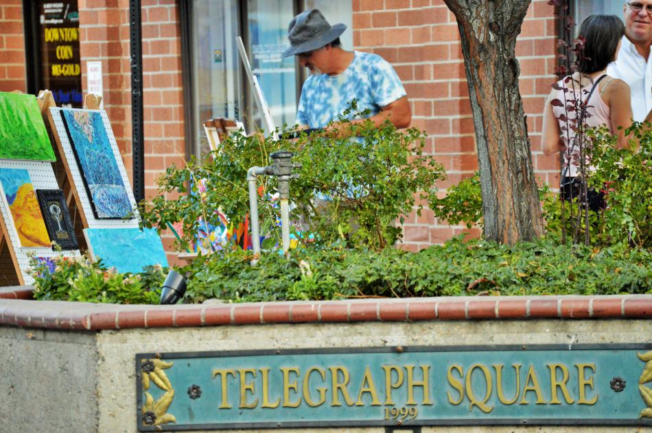Painting in Telegraph Square on Community Art Night
